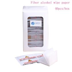 40 шт./пакет МПа волокна спиртом бумаги оптического волокна очистки бумага для волоконно-оптический разъем перемычку Бесплатная доставка