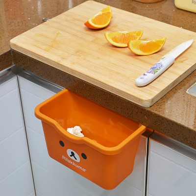 Multi-functional desktop type kitchen trash can hanged receive store content storage box 21*13.8*12.5cm free shipping