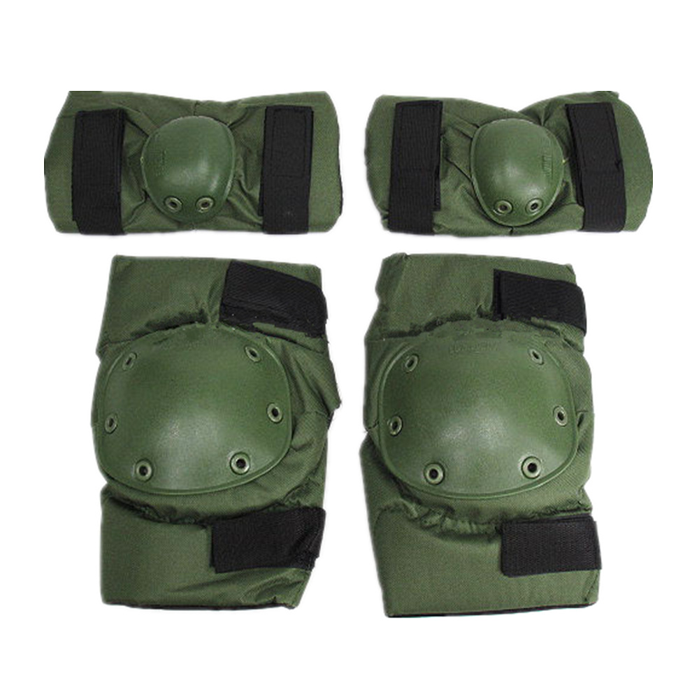 SWAT Special Force Airsoft Paintball Knee Elbow Pads OD CB BK ACU Knee Cap