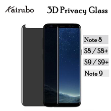 For Samsung Galaxy S9 Plus S8 Note 9 3D Tempered Glass Anti-Spy Glare peep Screen Protector Display Protection Privacy film hotsale 9h 2 5 d anti spy privacy premium tempered glass screen protector for samsung galaxy note 3
