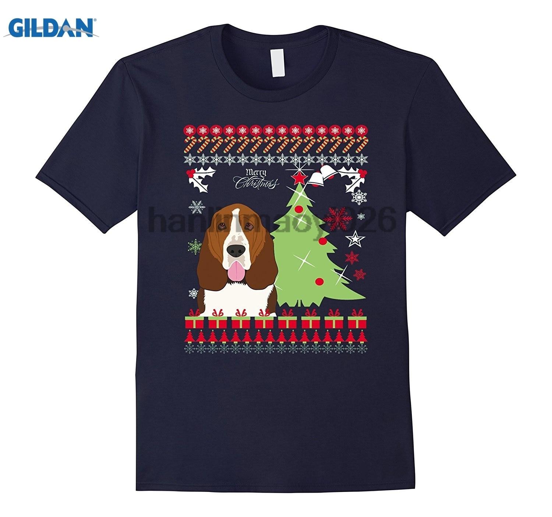 GILDAN Basset Hound Christmas Sweater Tshirt Christmas T-Shirt