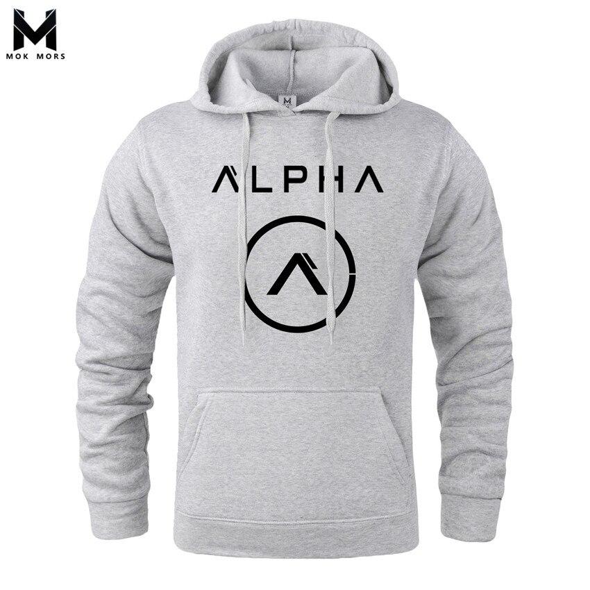 Hooded Sweatshirt Coat Tracksuit Long-Sleeve Print M-3XL Casual Male Brand