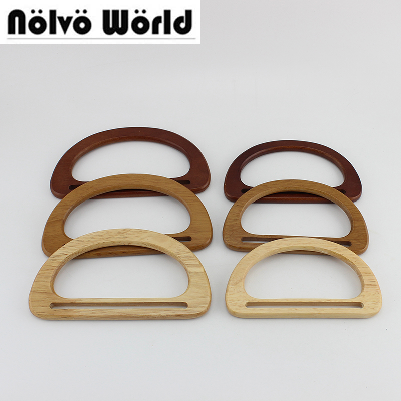 20 Pairs=40 Pieces,17X9.5cm,15X8.5cm Accept Mix Color,Solid Oak Tree Wood Handmade Bags Handbags Handle Sewing Crafts