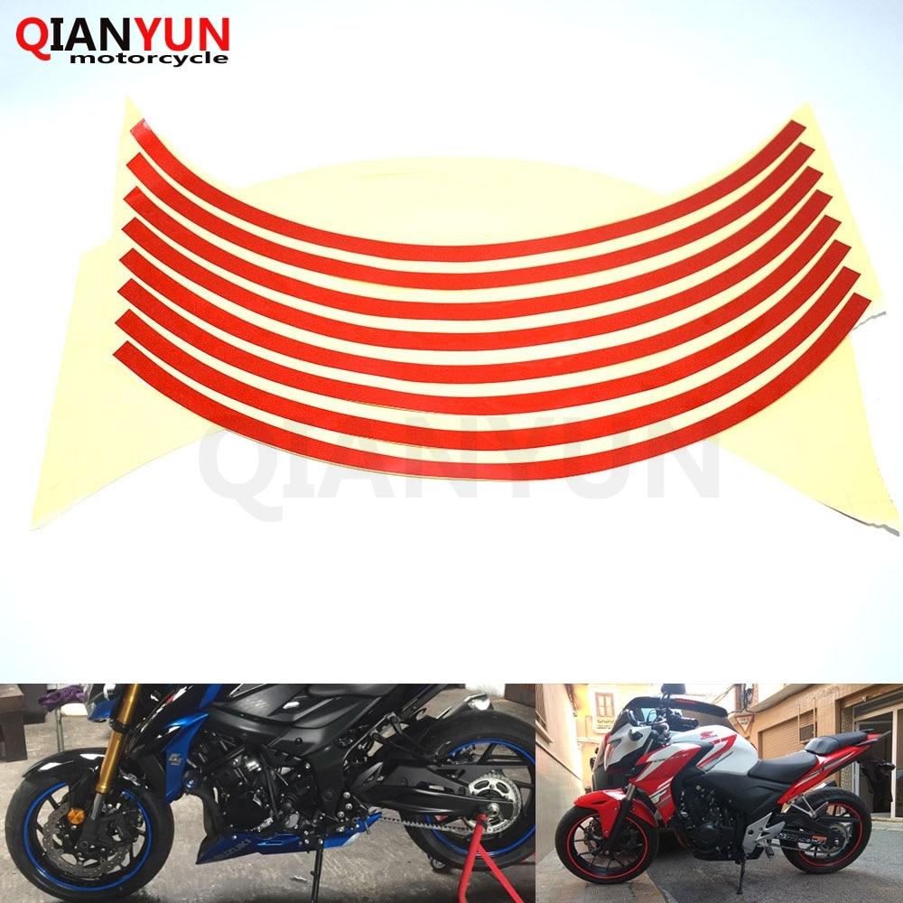 Motorcycle Styling Wheel Hub Tire Reflective Sticker Car Decorative Stripe Decal For Honda CBR1100XX CBR 1100XX VFR800 VFR 800
