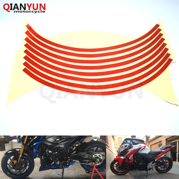 Motorcycle Styling Wheel Hub Tire Reflective Sticker Car Decorative Stripe Decal For Honda CBR1100XX CBR 1100XX VFR800 VFR 800 image