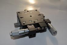 XY60R XY Achse Trimmen Station Manuellen Verschiebung Plattform Lineartisch Schiebetisch 60*60mm