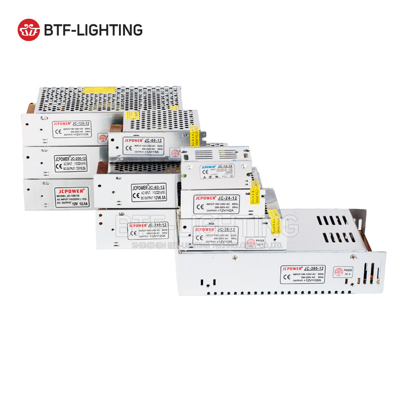 12V Switch LED Power Supply Transformer 1A/3A/5A/6.5A/8.5A/10A/12.5A/15A/16.5A/20A/25A/30A/40A/50A/60A
