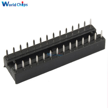 10PCS 28 Pin DIP SIP Round IC Sockets Adaptor Solder Type Narrow New - discount item  10% OFF Active Components