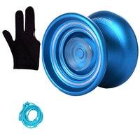 Magic yoyo адаптивный металлический Профессиональный Йо-Йо yoyo K7 для начинающих детей с 1 струнами подарки + перчатки