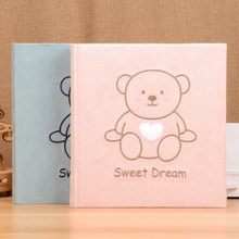 Cute Bear Photo Album 5 Inch Baby Growth DIY Handmade Cartoon Series Creative Family Gifts