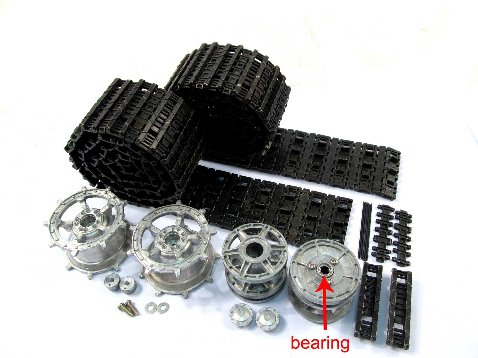 Mato 1/16 HengLong King Tiger RC Tank Metal Tracks Sprockets Idler Wheels MT078 1 16 mato 1 16 t74 metal tracks