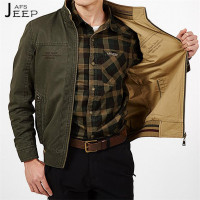 AFS JEEP 3xl 4xl 5xl Plus Size Men S Pure Cotton Double Side Jacket Thickness Cotton