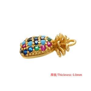 ZHUKOU 8x15mm hohe qualität Ananas Obst Anhänger für Halskette Ohrringe Schmuck Zubehör Erkenntnisse modell VD457