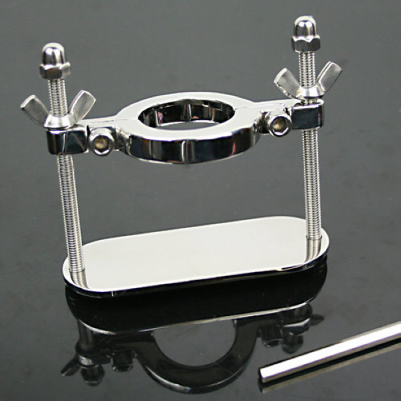 Stainless steel metal scrotum testicular clamps male chastity device cock ring slave bdsm bondage sex product sex toys for men cock rings scrotum ring stainless steel ball stretcher cockring adult sex toys for men scrotum bondage locking penis ring