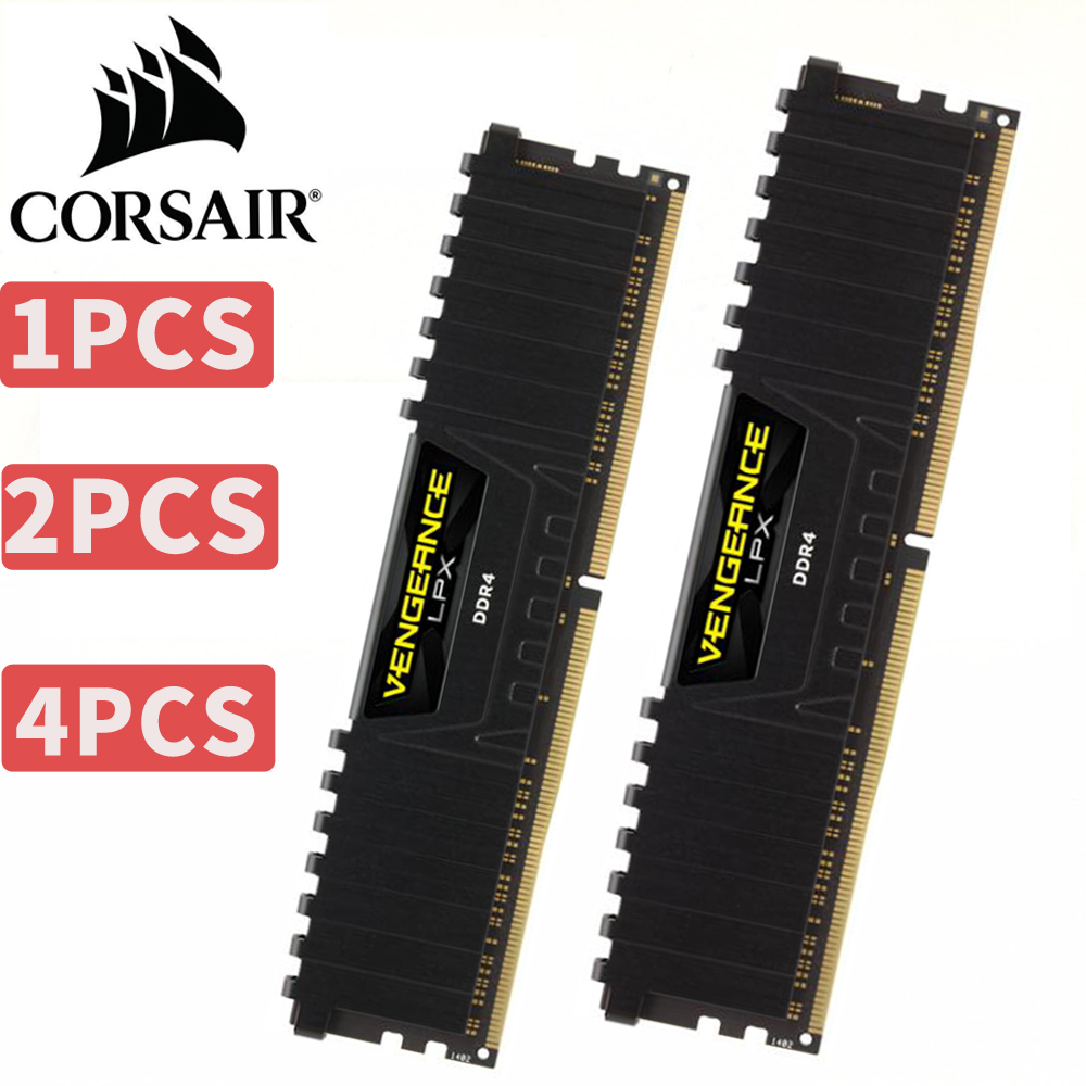 CORSAIR Vengeance LPX 8GB 8G DDR4 PC4 2400Mhz 3000Mhz 3200Mhz Module 2400 3000 PC computer Desktop RAM memory 16GB 32GB DIMM corsair vengeance lpx 8gb 8g ddr4 pc4 3000mhz pc computer desktop ram ecc memory 8gb ram