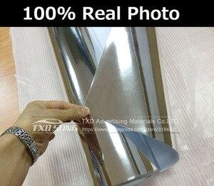 Image 2 - Premium High stretchable mirror silver Chrome Mirror flexible Vinyl Wrap Sheet Roll Film chrome mirror vinyl sticker