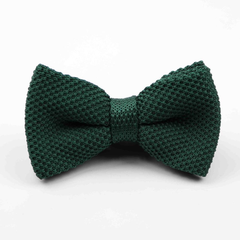 Мужские галстуки для шеи, смокинг, вязаная бабочка, Одноцветный галстук-бабочка, толстый двухслойный предварительно завязанный Регулируемый вязаный Повседневный галстук - Цвет: 42