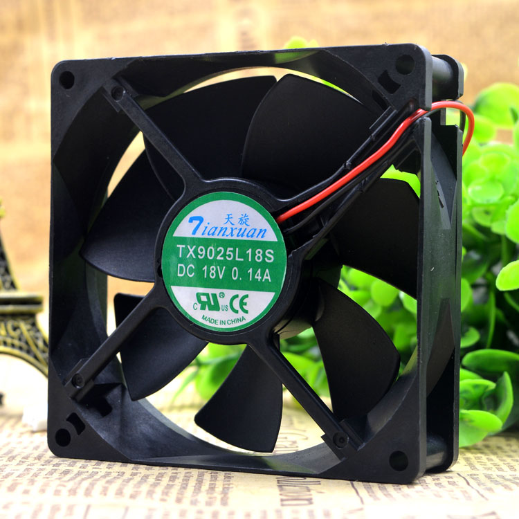 TX9025L18S 18 V 0.14 A 9 Cm 9025 Refrigerator Temperature Cabinet Cooling  Fan