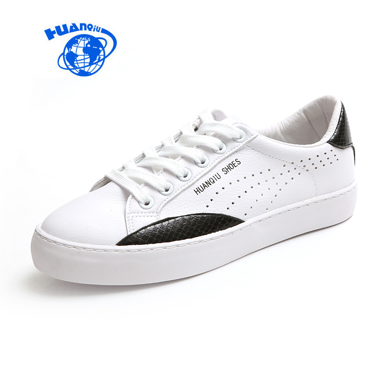HUANQIU Zapatillas Deportivas Mujer Female Leather Shoes Women White Shoes Mixed Colors New Fashion Casual Shoes Flat Heel 35-39 мужские кроссовки zapatillas deportivas sport shoes men sneaker ladies trainers 2015 zapatillas deportivas new 2015 unisex rubber flat sport shoes woman sneakers