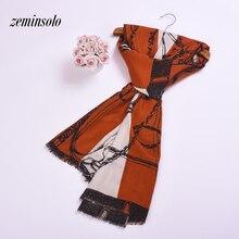 New Silk Women Scarf Fashion Chiffon Wraps Bandana Spring Scarves For Cotton Shawls Luxury Brand Hijab Stoles Female