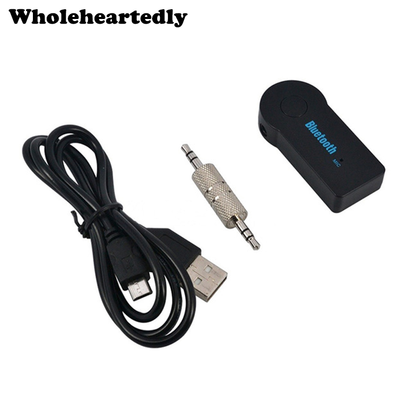 Brand New Universal 3,5mm Bil Bluetooth Audio Music Receiver Adapter Automatisk AUX Streaming A2DP Kit för Högtalare Hörlurar Partihandel