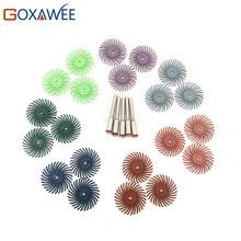 Hot 10pcs Radial Bristle Abrasive Brush Mixed Grit Coarse Dremel Accessories For Dremel Rotary Tools Abrasive Tool +2pcs Mandrel