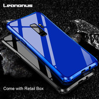 Luxury Leanonus Metal Case For Samsung Galaxy S9 S9Plus Shell Metal Frame PC Solid Cover For