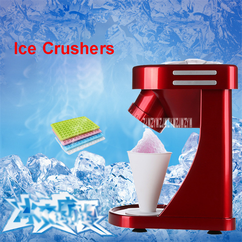 SC-1502 Household automatic crusher 220v/50Hz Snow Ice Shaver Electric Ice Crushed Beard Maker 30W Ice Cream Maker 18000 r/min jiqi electric ice crusher shaver snow cone ice block making machine household commercial ice slush sand maker ice tea shop eu us