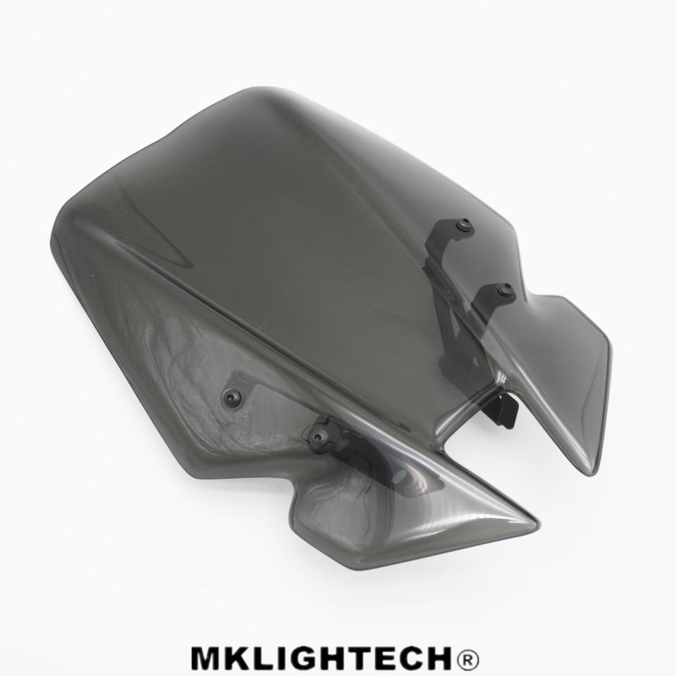 MKLIGHTECH Motorcycle Wind Deflectors Windshield Windscreens For YAMAHA MT09 MT-09 MT 09 FZ-09 FZ 09 FZ09 2014-2018 crash bar mt 09