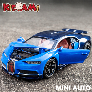 KIDAMI 1:32 Bugatti Chiron Model Car Diecast Alloy Toy Cars Pull Back Collection Toy Mini Metal Car Toys for Children Boys bburago bugatti chiron 1 18 scale alloy model metal diecast car toys high quality collection kids toys gift