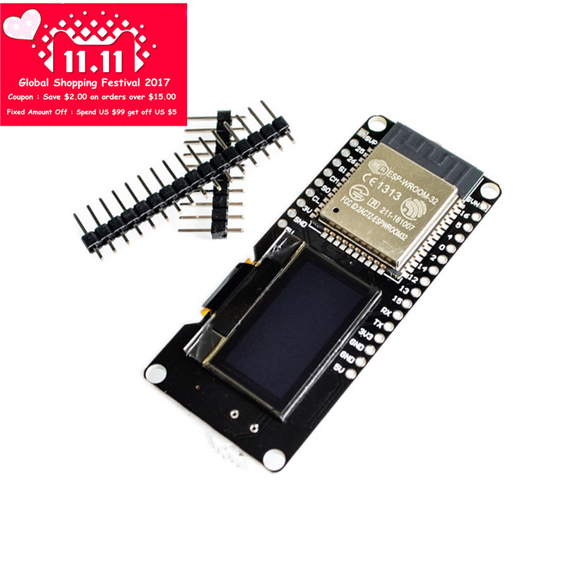 ESP32 OLED Module for Arduino ESP32 WiFi Modules+ Bluetooth Dual ESP-32 ESP-32S ESP8266 with OLED