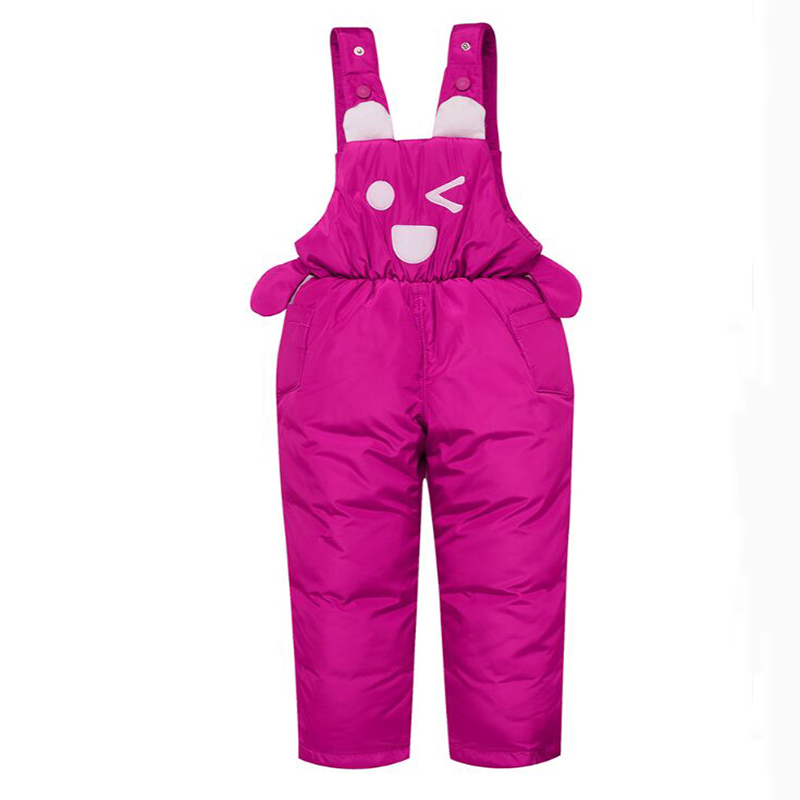 Winter 2019 Children Down Pants Boys and Girls Overalls Boys Ski Pants Thick Warm Winter Clothes Windproof Kids Pants Fit 90-120 2017 new arrive winter children s ski pants boy and girl overalls down pants girls thick warm disassemble pant pants for 6 9t