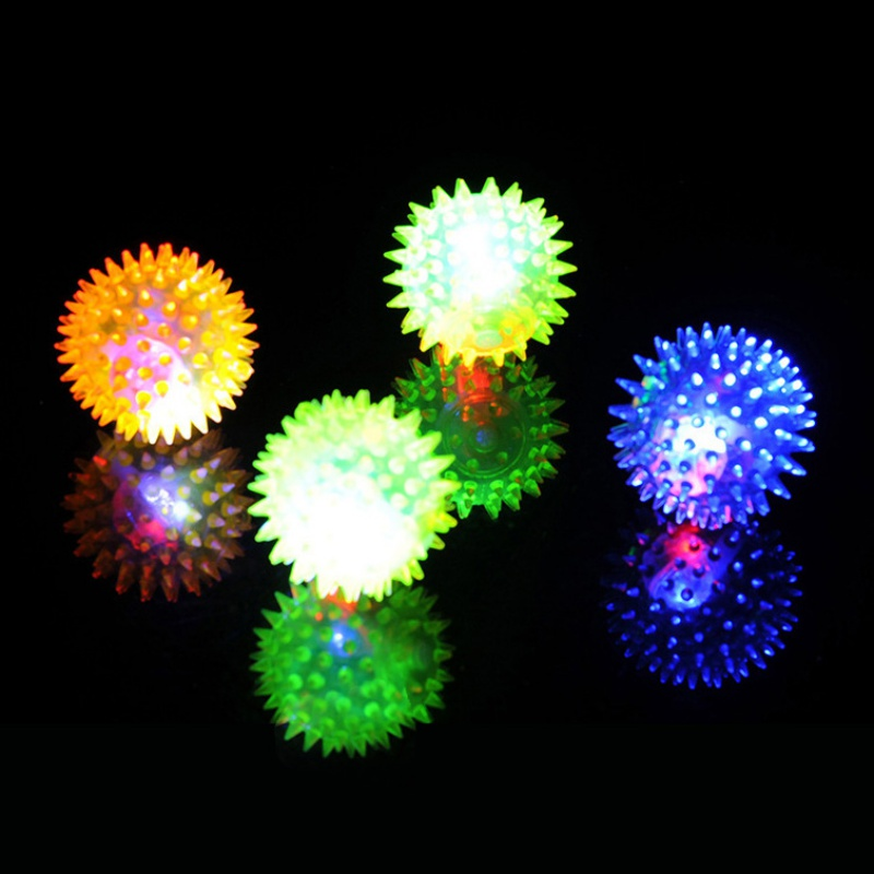6 5CM Baby Kids Light up Toy Volleyball Bouncing Sound Balls Luminous Toy For Children Flashing Party Gift Random Color j2 in Light Up Toys from Toys Hobbies