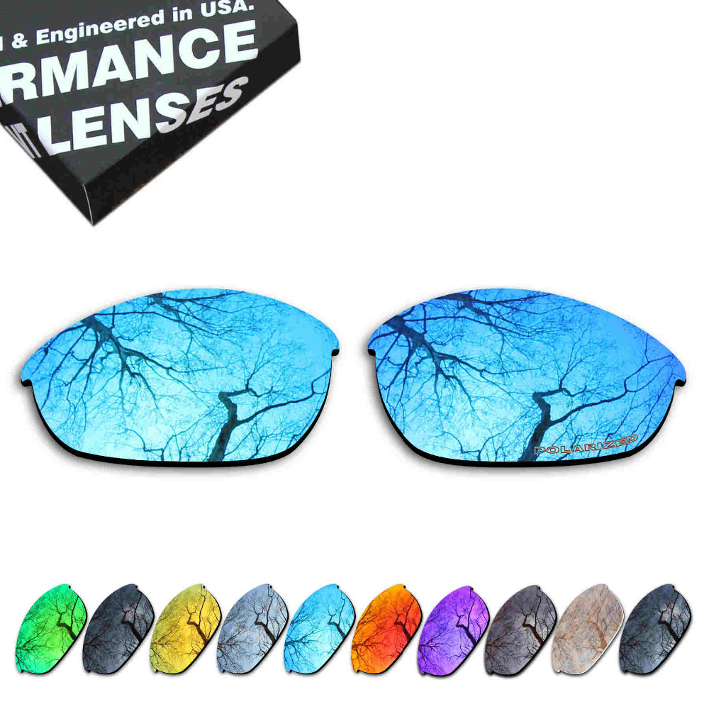 ToughAsNails Resist Seawater Corrosion Polarized Replacement Lenses for Oakley Half Jacket Sunglasses - Multiple Options
