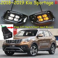 car styling for 2018~2019y Kia sportager daytime light (Free Gift Switch) LED car accessories daylamp KIA sportage R fog light