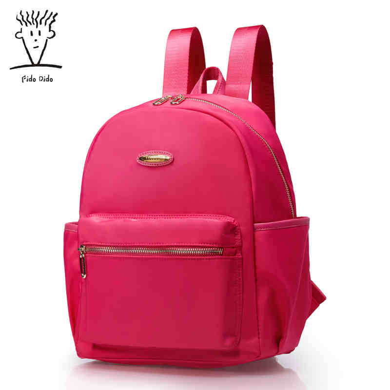 Fido Dido New Nylon Backpack Oxford Cloth Shoulder Bag Female Korean Version Of the Tide Leisure Travel Backpack College!! 2017 winter fashion leisure quality waterprof pu men backpack college windbag trend korean version of the tide travellaptop bag