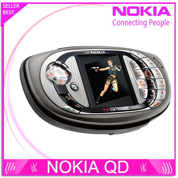 original unlocked Nokia N gage QD Game mobile phone bluetooth multilingual Refurbished free shipping