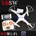 Câmera brinquedos X6sw WIFI Fpv rc helicóptero zangão quadcopter gopro profissionais drones com câmera VS X5SW X600 Drone Box Original