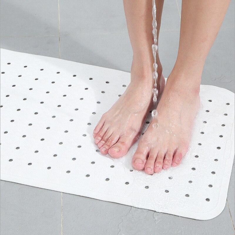 White Rubber Bathroom Kids Non slip Area Rugs Multipurpose Feet Mat Anti Slip Kitchen Door Carpet Toilet Bath Tub Shower Rug Mat