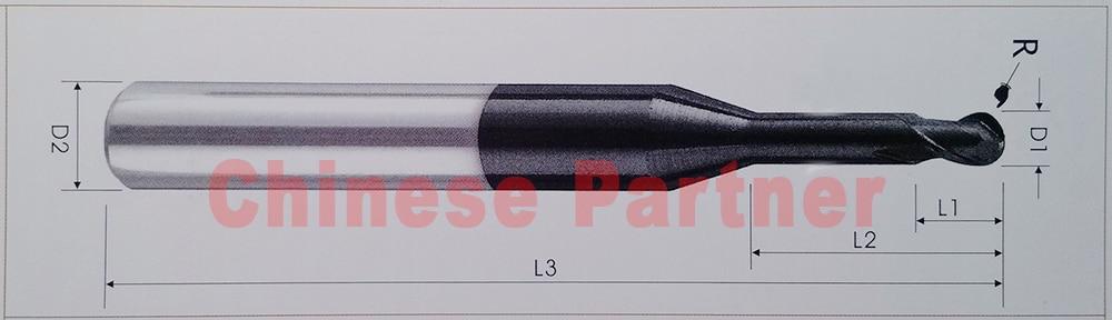 5vnt / partija hrc55 Kotas 4mm arba 6mm 2 fleitai Karbido ilgas - Staklės ir priedai - Nuotrauka 2