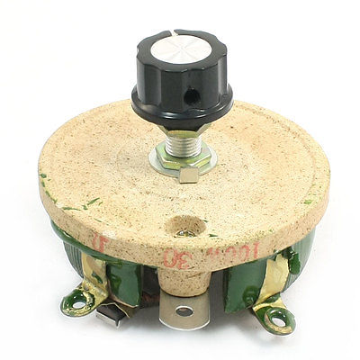 Керамический Потенциометр 100 Вт 30 Ом, переменный конический кастрюльный резистор Реостат
