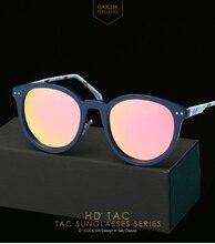 Real Polarized Vintage Women Sunglasses Mirrored Lens Designer Brand Orignal Retro Round Sunglass Prescription Sun Glasses 8664