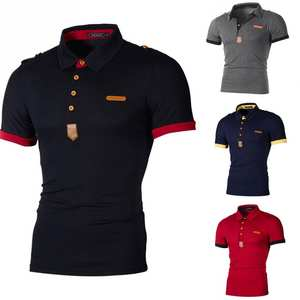 8d9743f7 Favolook Men's Slim Fit Short Sleeve Casual POLO Shirt