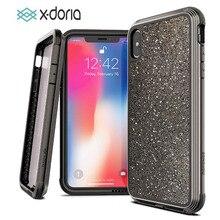 Túi Chống Sốc X Doria Ốp Lưng Điện Thoại Iphone XR XS Max Quốc Phòng Lux Quân Sự Cấp Thả Thử Nghiệm Ốp Lưng iPhone XR XS Max Ốp Lưng Glitter Cover