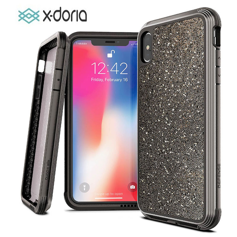 X Doria Phone Case For iPhone XR XS Max Defense Lux Military  Grade Drop Tested Case Cover For iPhone XR XS Max Glitter CoverFitted  Cases