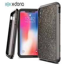 X Doria iPhone XR XS 용 전화 케이스 Max Defense Lux 군용 등급 드롭 테스트 iPhone XR XS 용 케이스 커버 Max Glitter Cover