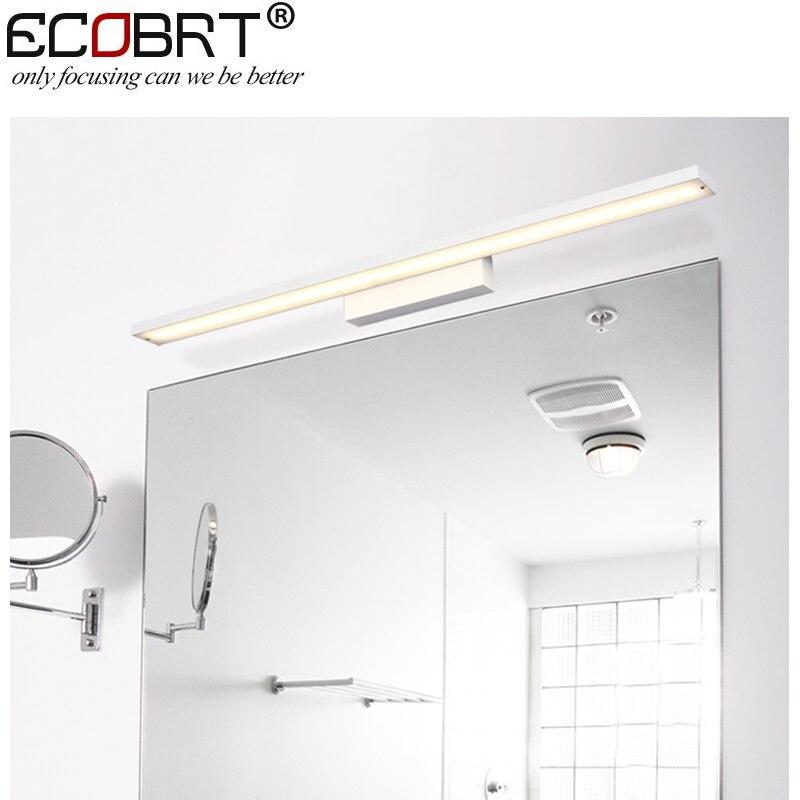 ФОТО Modern 12w 60cm long white Aluminum lampshade LED bathroom mirror lighting light 220V AC Illumination furniture