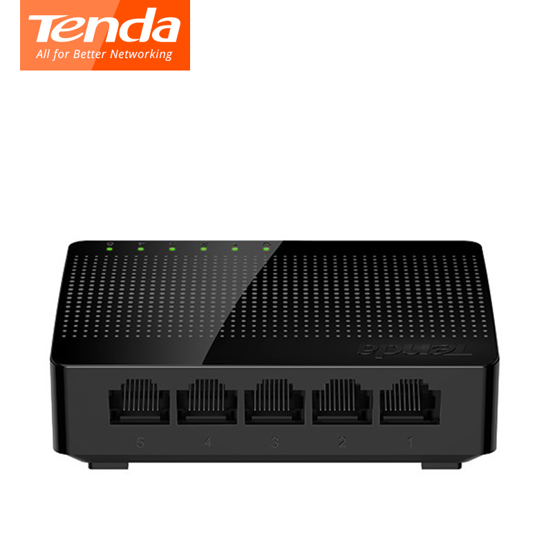 Ethernet Network Switchs Tenda SG105 5*10/100/1000Mbps RJ45 Gigabit Port Soho Desktop Switch 16Gbps LAN Hub plug and play xinghang 400w pc computer power supply 12v 400w power supply psu peak 500w switching atx power gaming pc desktop 24pin