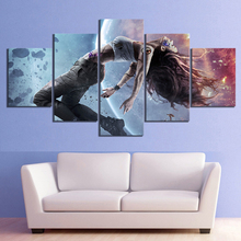5 Piece Science Fiction Movie Teleios Poster Paintings Canvas Art for Home Decor Wall