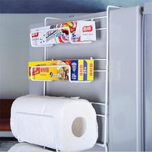 Регулируемый пространство стойки боковая полка боковины HolderSpice трещины стойки магнитный держатель для холодильника Кухня Организатор держатель